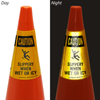 Slippery When Wet Or Icy Cone Collar