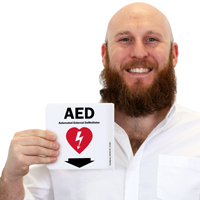 Projecting AED Sign