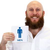 Men's Restroom with Pictogram Sign