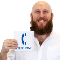 Projecting Telephone Sign