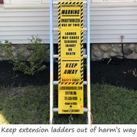 Ladder barrier