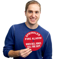 Sprinkler Fire Alarm Sign