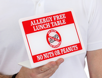 Allergy Free Lunch Table Desk Sign
