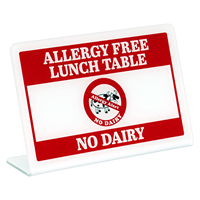 Allergy Free Lunch Table No Dairy Desk Signs