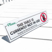 Please This Table Is Currently Not In Use Desk Sign