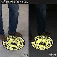 Reflective Floor Sign
