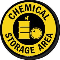 Chemical Storage Area SlipSafe Floor Sign