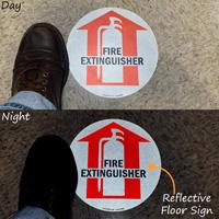 Fire Extinguisher SlipSafe™ Arrow Floor Sign