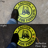 Caution Watch For Forklifts SlipSafe™ Floor Sign