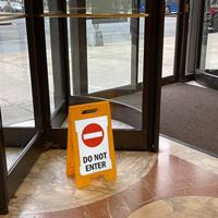 Do not enter sign for entrance