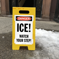 OSHA Danger Ice Watch Your Step Signs
