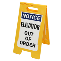 Elevator Out Of Order Free-Standing Sign