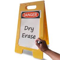 Write in danger sign