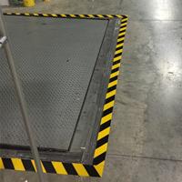 4 in. Solid Black/Yellow Floor Marking Tape