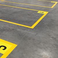 2 in. Solid Yellow Floor Marking Corner