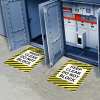 Keep Clear Do Not Block Floor Sign