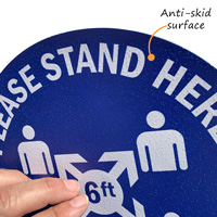 Stand here social distancing floor signs