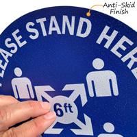 Anti-Skid Finish Floor Sign