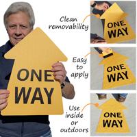One way directional floor exit sign