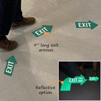 One way directional floor sign
