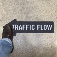 Traffic Flow, Thin Arrow SlipSafe™ Floor Sign