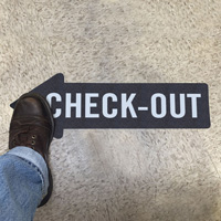 Check-Out, Thin Arrow SlipSafe™ Floor Sign