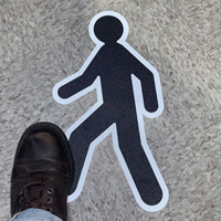 Cut to Shape Pedestrian Sign, Version 2 SlipSafe™ Floor Sign