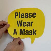 Chat Bubble - Please Wear a Mask