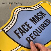 Anti-slip face mask floor decal