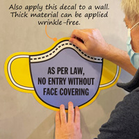 Face mask is required by law sign