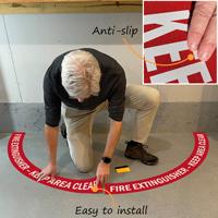 Do not block fire extinguisher floor decal