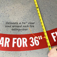 Keep fire extinguisher locations clear of obstructions