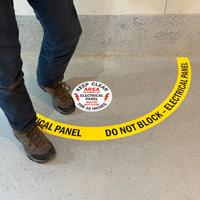 Do Not Block Electric Panel FLoor Decals