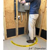 Do Not Block Electric Panel FLoor Decal