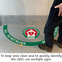AED - Do Not Block Floor Decals