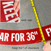 """Keep clear of panel by 36"""""""
