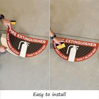Easy to install fire extinguisher floor decals