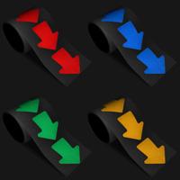 Reflective Floor Marking Arrows