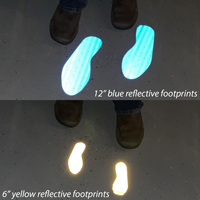 Reflective footprints