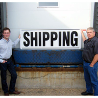 Shipping Giant Dock Signs