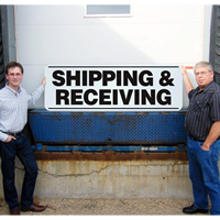 Shipping & Receiving Giant Dock Signs