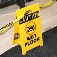 Caution Reversible Fold-Ups® Wet Floor Sign