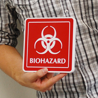 Warning Biohazard Sign (with biohazard symbol)