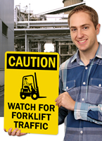 Watch For Forklift Traffic OSHA Caution Signs