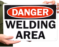 Danger Welding Area Sign