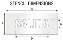 Stencil ST 0409
