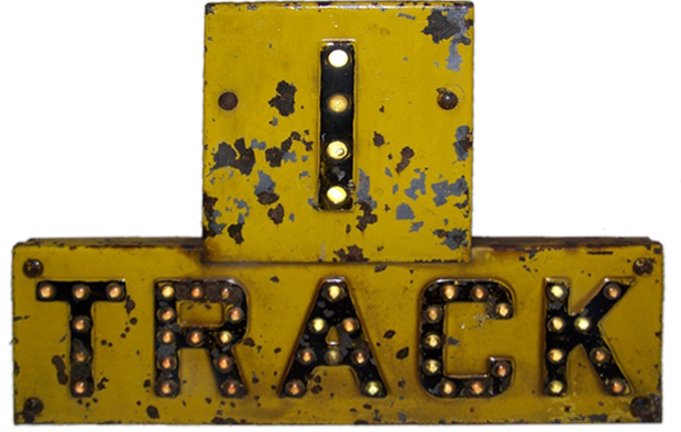 traditional 1-track railroad crossing sign