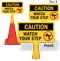 Caution Watch Your Step ConeBoss Sign