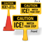 Ice Watch Your Step ConeBoss Sign