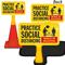 Practice Social Distancing In Building ConeBoss Sign